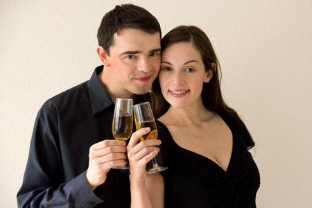 Champagne pour Emma et Jef !