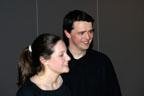 Après la représentation : Ariane et Olivier toujours d'humeur radieuse.<br />(Photo : Daniel Ballez)