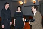 Après la représentation, interview et séance photo avec Sandro Faiella, journaliste du magazine Provivial.<br />(Photo : Daniel Ballez)